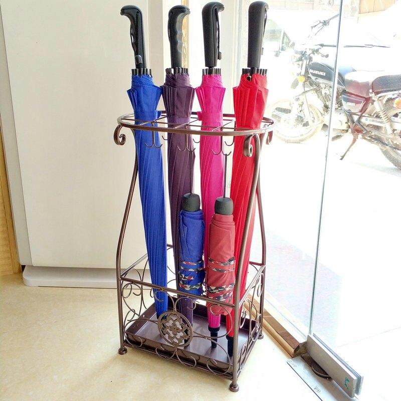 雨傘架酒店 大堂家用鐵藝傘筒雨傘桶收納桶落地式放折疊傘架子