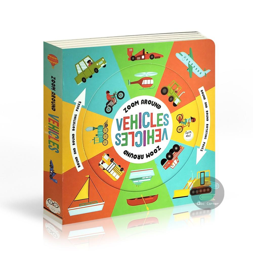 【Zoom Around Vehicles】轉盤設計用小手轉動圓盤 原裝正版現貨