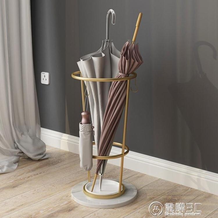 北歐現代簡約輕奢酒店大堂雨傘架大理石金屬家用創意收納傘架ins 七色堇   元旦 交換禮物