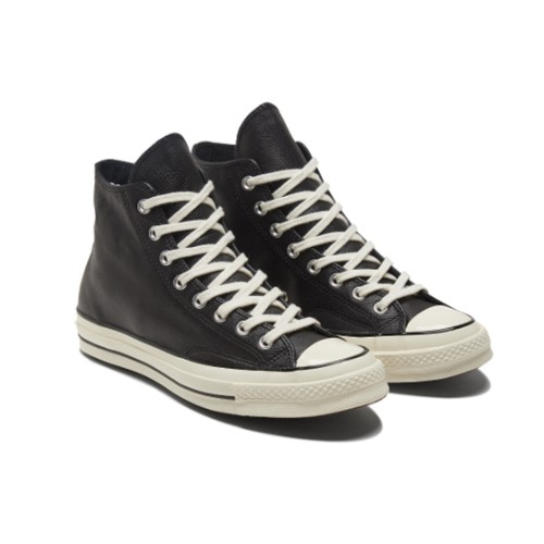 CONVERSE-男女款高筒休閒鞋- 皮革 170369C-黑色 CHUCK 70 HI 基本款 復刻版 三星標