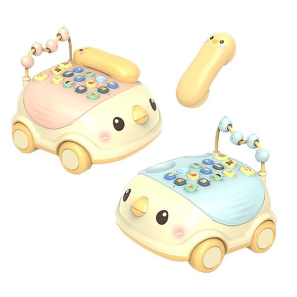 益智玩具 小雞音樂電話車 中英雙語學習玩具 雪倫小舖 【BEL3023】