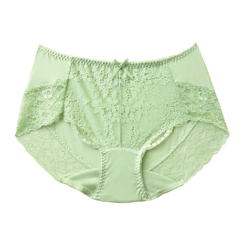【玳蕾綺】 花卉蕾絲平口內褲 / 蘋果綠