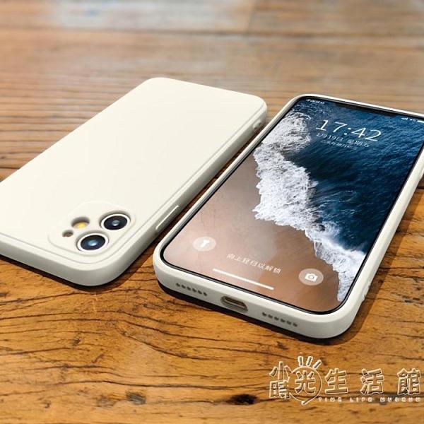 蘋果手機殼蘋果11手機殼直邊方形iphone11promax新款液態硅膠11pro攝像頭全包 3C優購