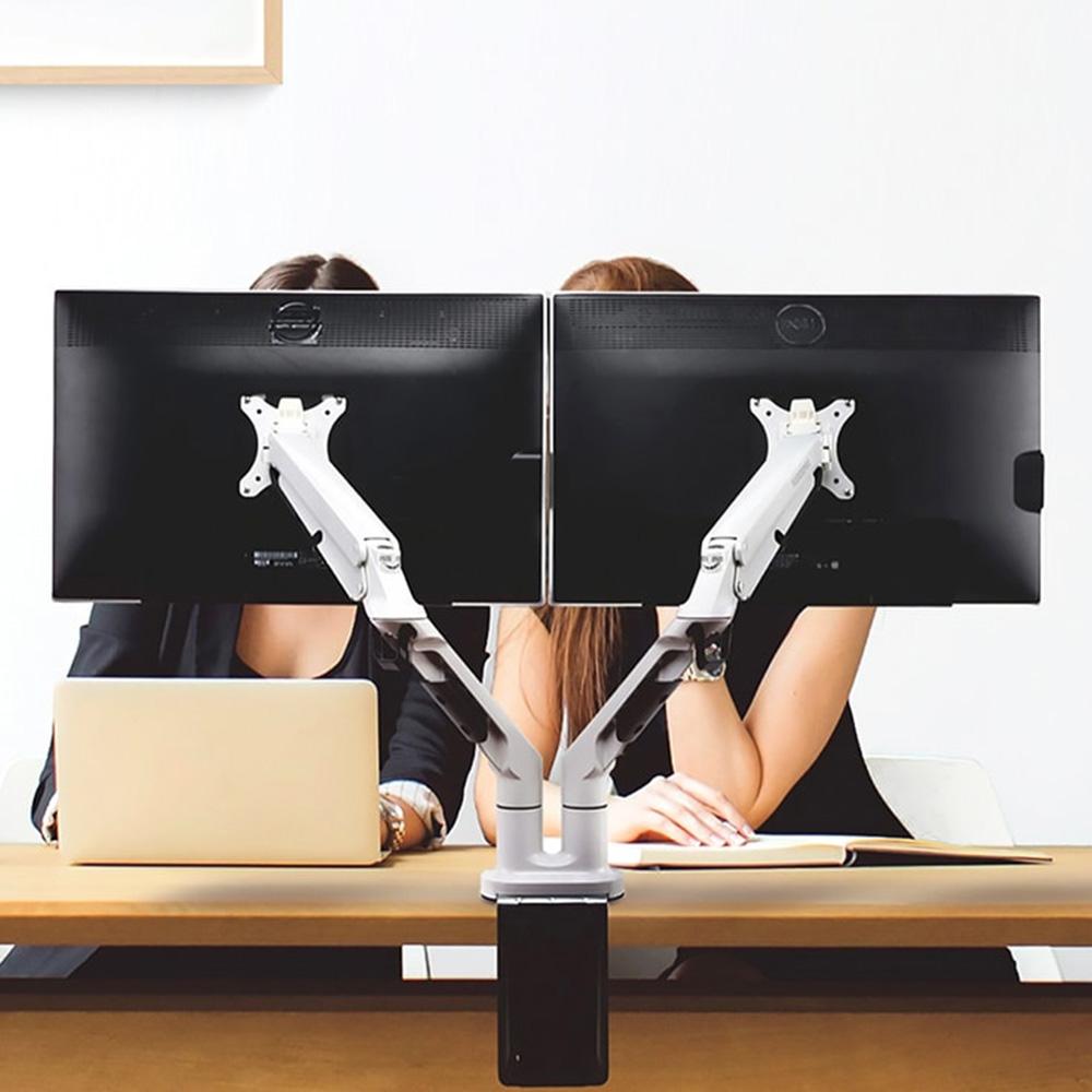 Flexispot 懸浮雙螢幕旋臂支架