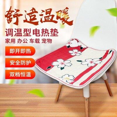 【居家家】電加熱坐墊 按摩椅 坐墊 電熱坐墊 USB接口 發熱坐墊 艾灸儀 辦公室小電褥子 椅子墊 暖腳墊 媽媽禮物