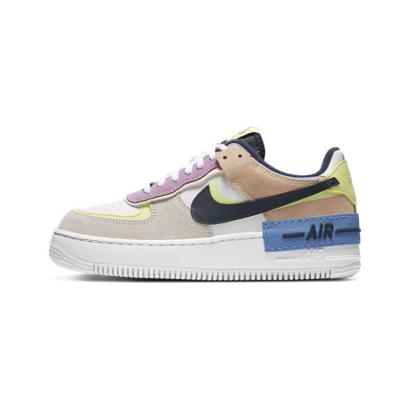 【日本海外代購】Nike Air Force 1 Shadow 粉黃 黑勾 增高鞋 馬卡龍 休閒鞋 百搭 女鞋 CU8591-001