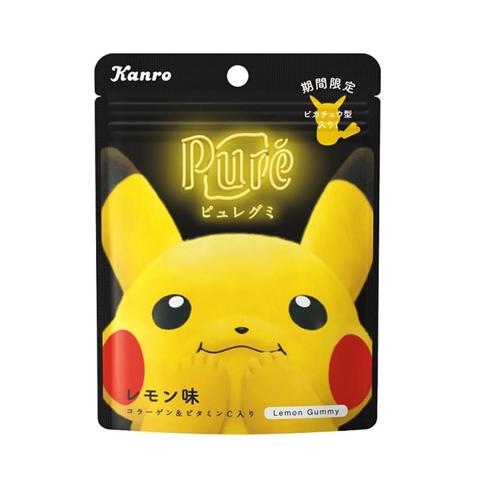【Kanro甘樂】Pure皮卡丘造型軟糖-檸檬風味 56g カンロ ピュレグミレモンポケモン 日本進口糖果