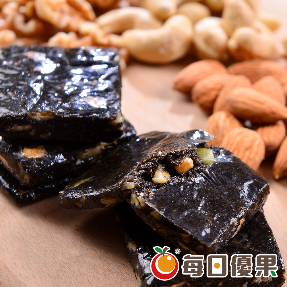 養生綜合堅果黑芝麻糕大包裝600G 每日優果