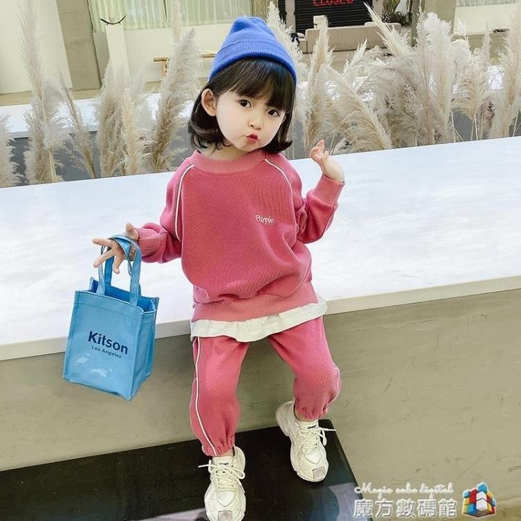 女童套裝秋裝新款韓版兒童洋氣童裝1-2歲小童休閑寶寶兩件套