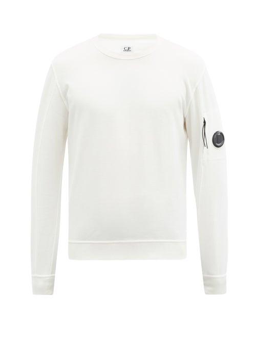 C.P. Company - Goggle-lens Cotton-jersey Sweatshirt - Mens - White