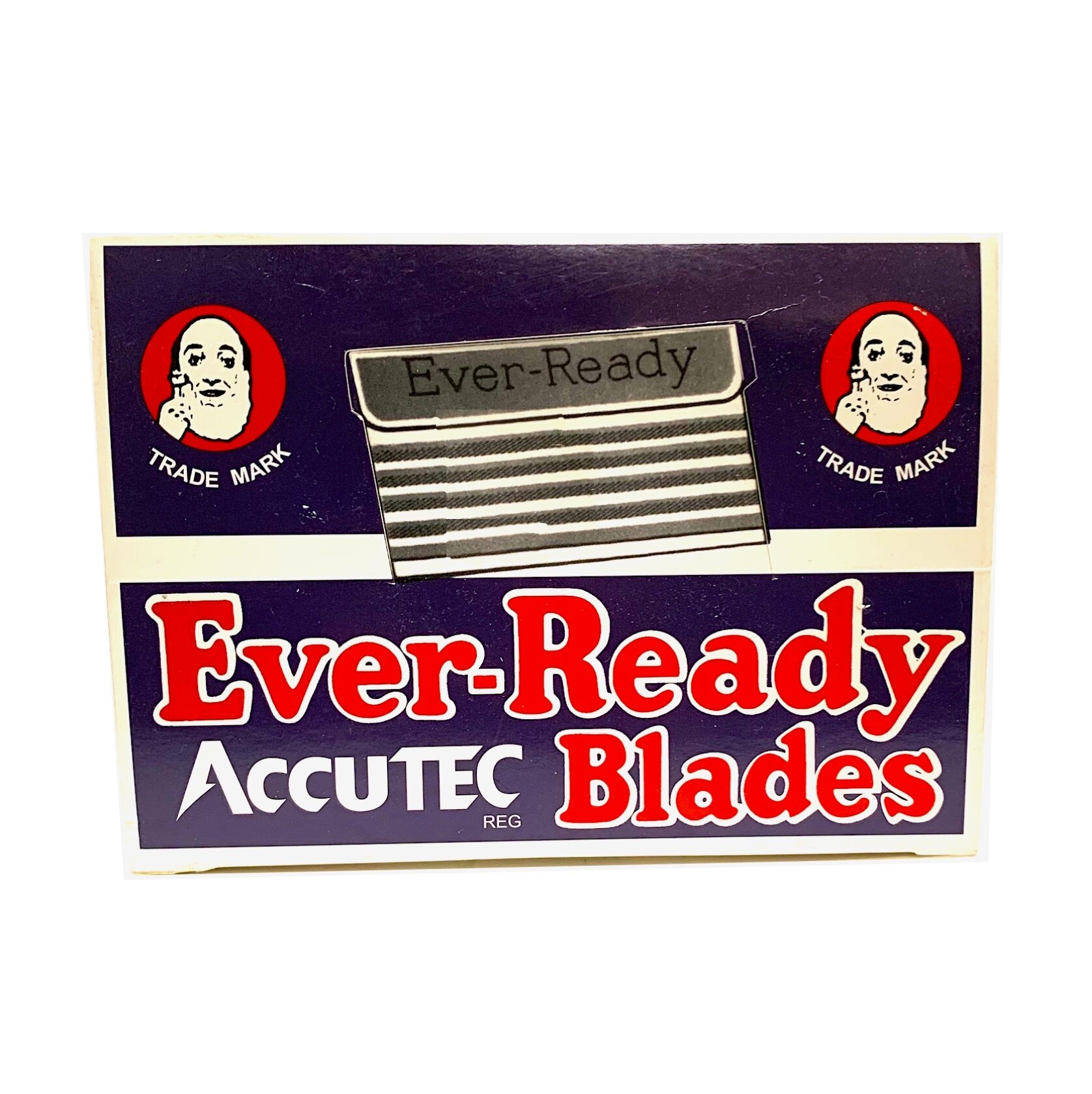 ■川鈺■ 老人頭 ACCUTEC 單面刀片 120片/24盒 刀片 刮鬍刀 老式刮鬍刀片 美國品牌 美國刀片