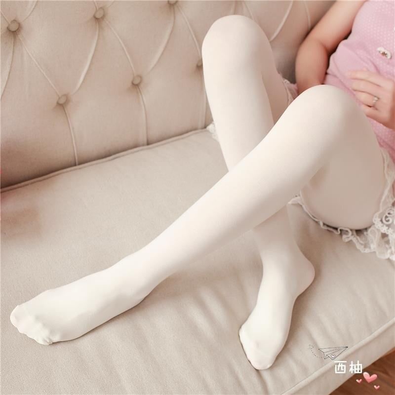 防勾絲天鵝絨連褲襪日系肉色白色絲襪春夏秋性感打底長襪子女
