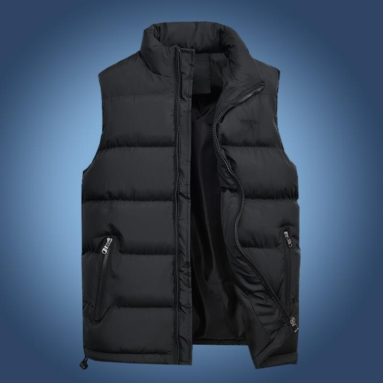 馬甲男秋冬韓版保暖羽絨棉青年馬甲男士加厚背心外套中年大碼坎肩