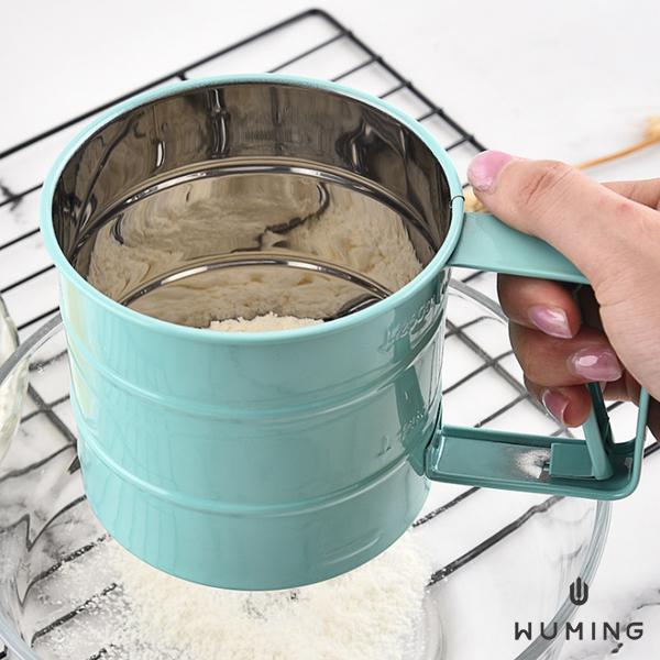 半自動不鏽鋼手持麵粉篩杯 『無名』 Q04117