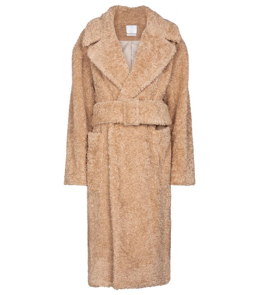 Victoria faux fur pea coat