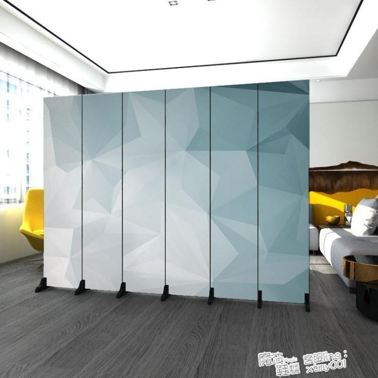北歐簡約屏風隔斷墻臥室遮擋家用客廳餐廳摺疊行動布藝經濟型折屏免運- 快速出貨 限時下殺85折起