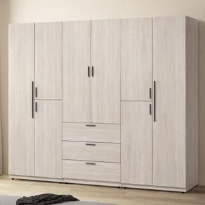 【MUNA 家居】約克7尺衣櫥/衣櫃(共三色)鋼刷白色