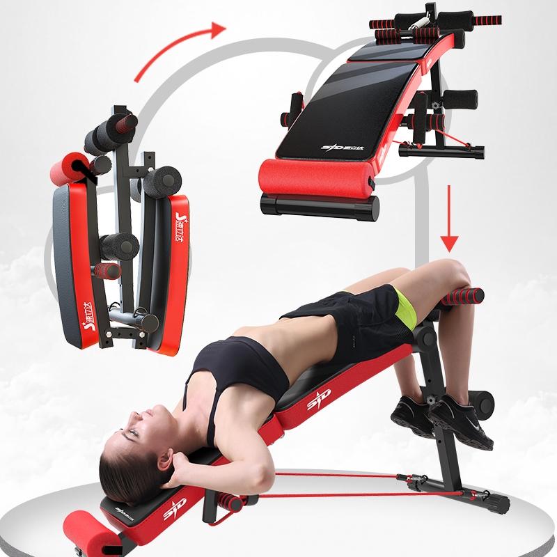 優質仰臥起坐板 可折疊 腹肌健身椅 收腹器 多功能仰卧板 健腹器 健身器材 家用