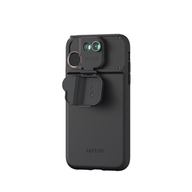結合濾鏡、魚眼、微距鏡頭 *【SHIFTCAM】 2.0旅行攝影組手機殼黑(iphone 11 / 11 pro /Pro max)