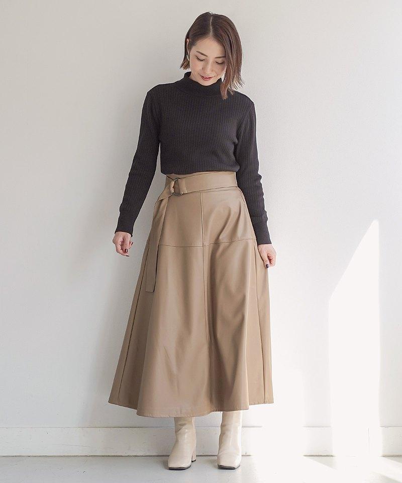 JS×momo.yokko /裙子生態皮革
