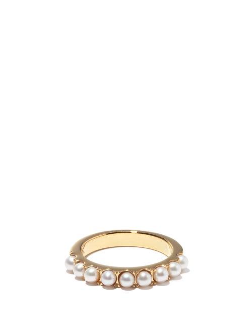 Otiumberg - Pearl & 14kt Gold-vermeil Eternity Ring - Womens - Pearl