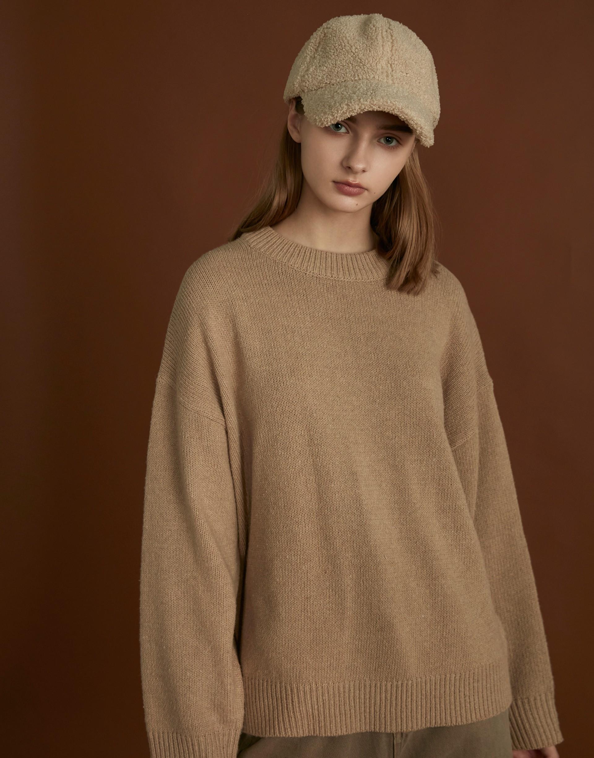 基礎厚領針織毛衣-PAZZO
