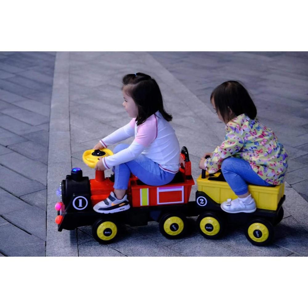 現貨 電動小火車 可坐雙人 四輪童車 兒童電動車 電動火車 yf17741