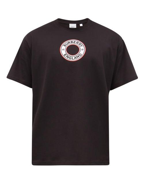 Burberry - Logo-appliqué Cotton-jersey T-shirt - Mens - Black