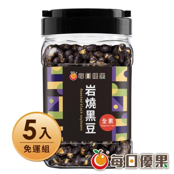 罐裝岩燒黑豆(320G) x5罐 每日優果