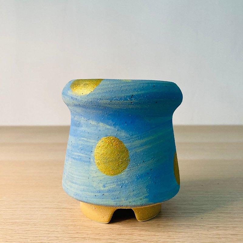 藍色天空的小星星 花盆 花瓶 盆器