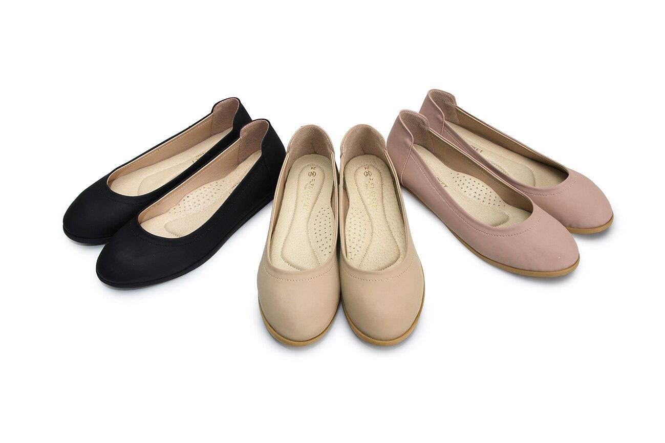 【12月新款】【超商免運】【富發牌】【女鞋】【台灣製造】乾燥玫瑰圓頭休閒鞋 1BC50