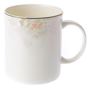 HOLA 牡丹花影骨瓷系列 直身馬克杯 350ml 可適用微波爐及洗碗機