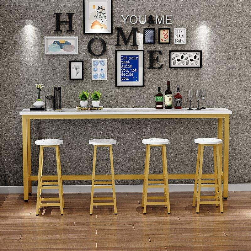 北歐輕奢陽臺桌吧臺桌椅簡約家用靠墻窗高腳桌奶茶店酒吧長條窄桌