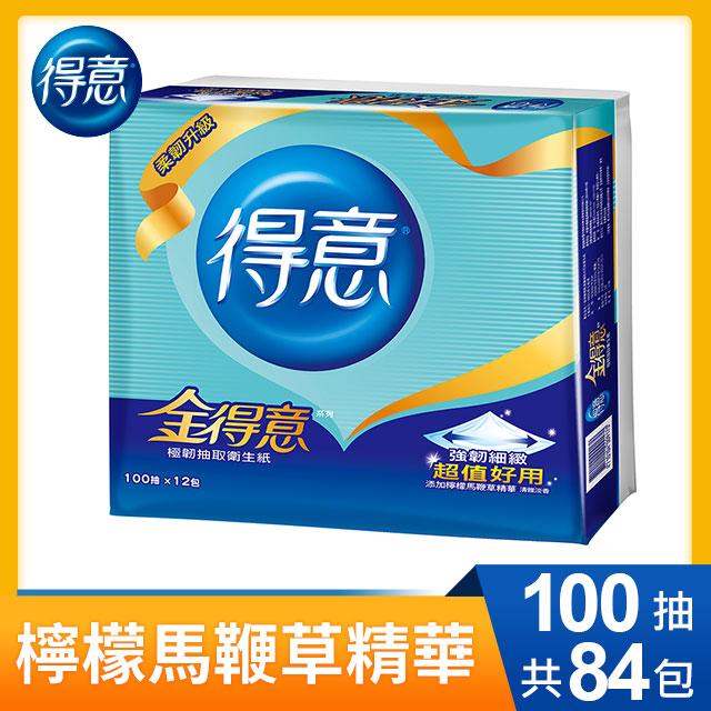 【金得意】極韌抽取式衛生紙-100抽x12包x7袋/箱