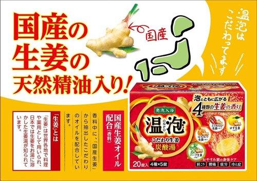 日本 地球製藥 ONPO 溫泡碳酸溫泉入浴劑 12錠~溫熱生薑香✿