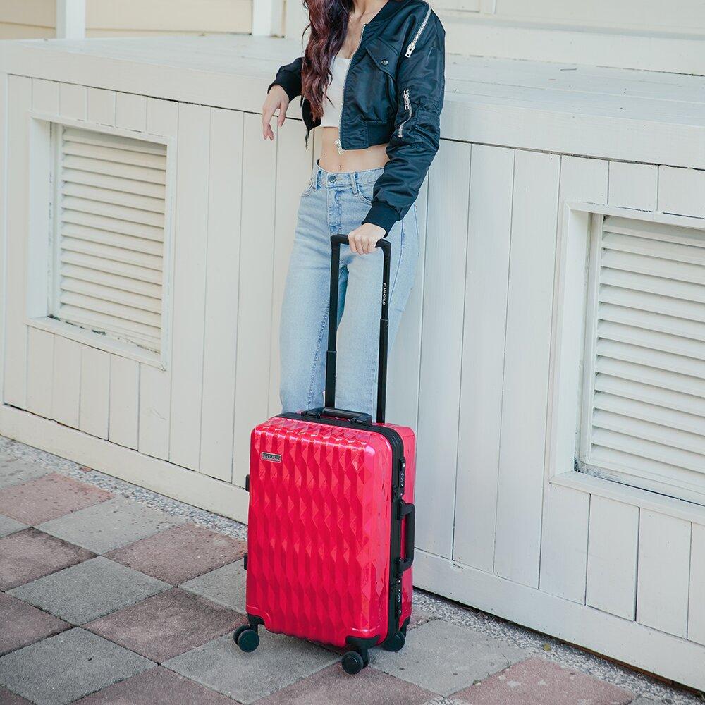 FUNWORLD 20吋鑽石系列鋁框行李箱