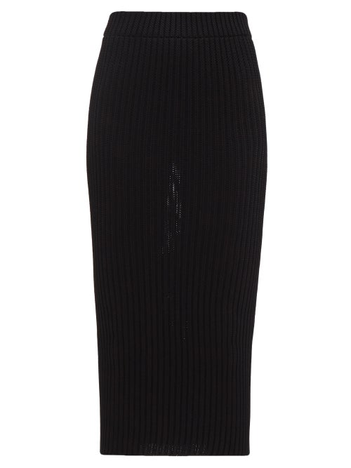 Alexandre Vauthier - Knitted Pencil Skirt - Womens - Black