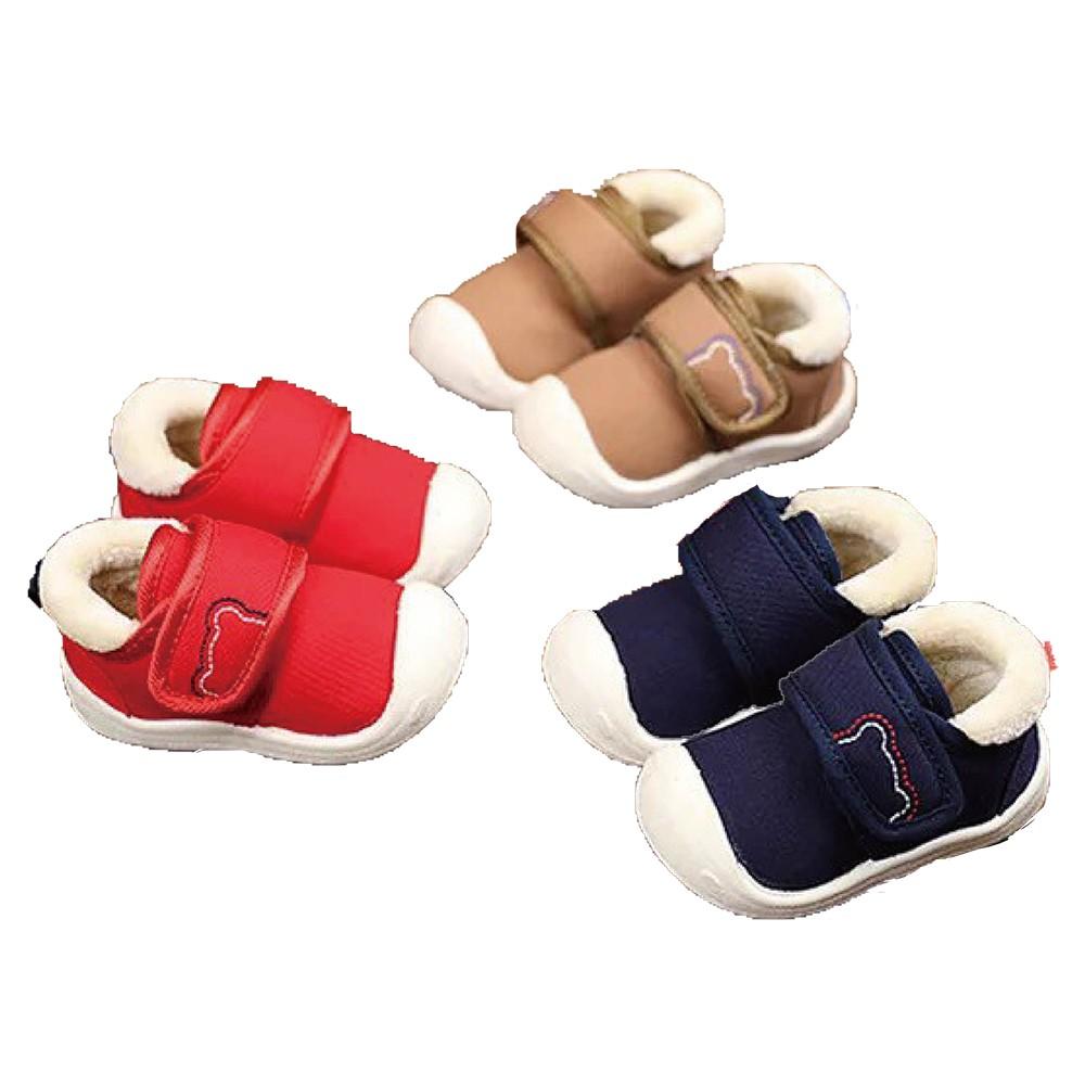 現貨領券免運 春節照常出貨 熊熊款加絨寶寶學布棉鞋 學步鞋 嬰兒鞋 兩色可選