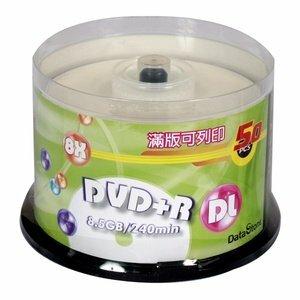 DataStone 可列印 8X DVD+R DL 單面雙層 8.5GB (50片)