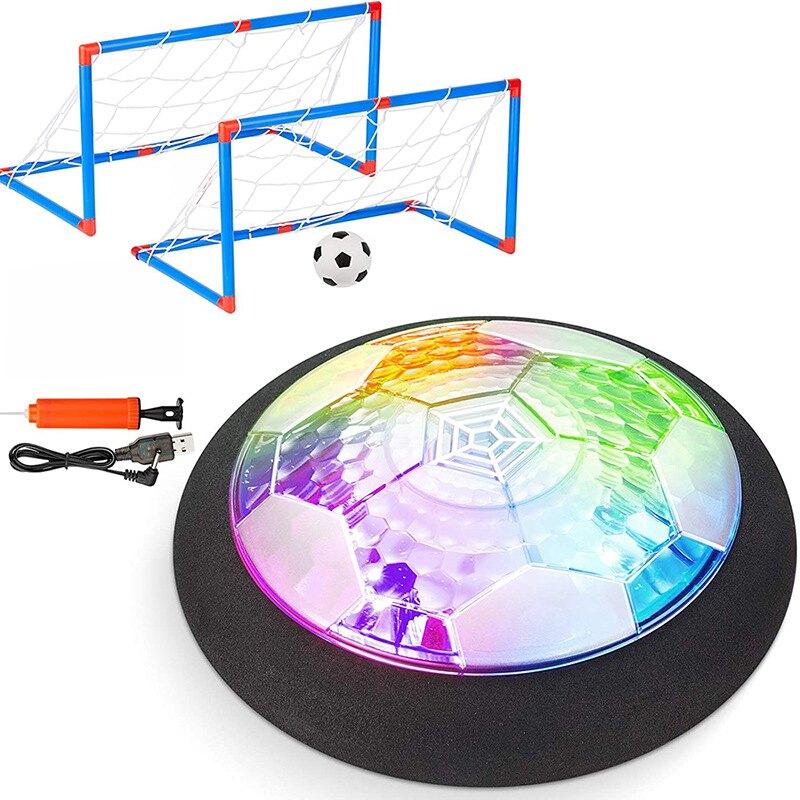 滿天星新品兒童室內休閒發光足球充電懸浮足球帶雙球門玩具 8號時光