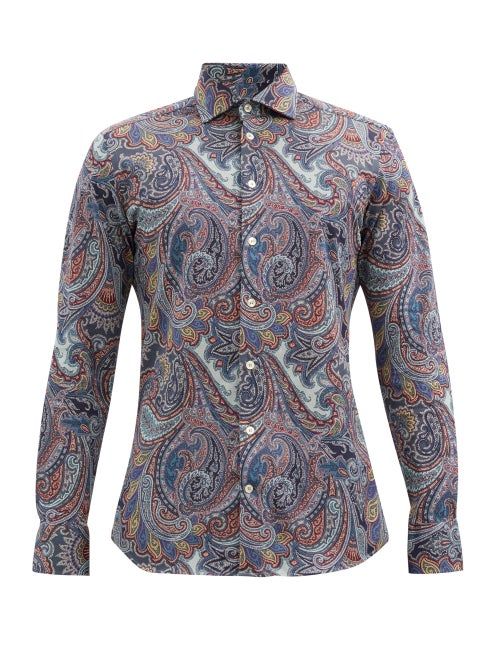 Etro - Paisley-print Cotton-piqué Shirt - Mens - Multi