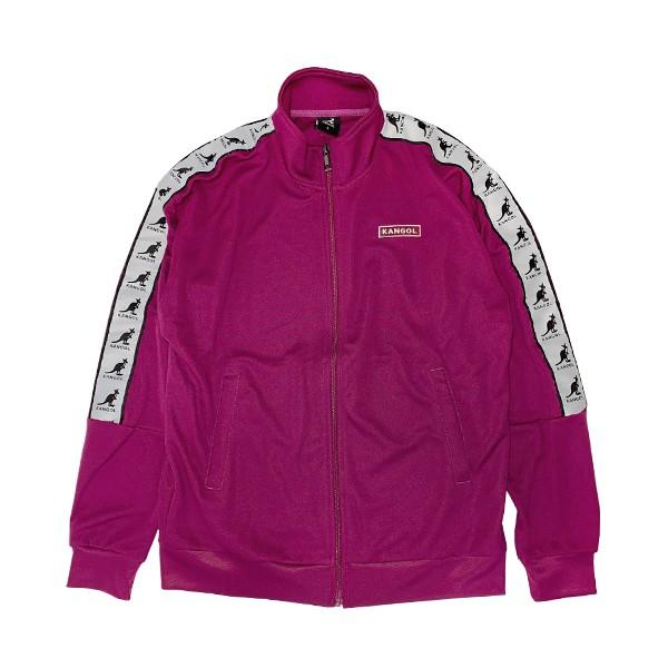KANGOL【6055110192】英國袋鼠 外套 立領運動外套 拉鍊 手臂串標 紫色 男女