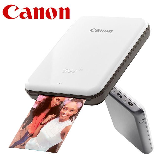 Canon PV-123 迷你相片印表機(鈦晶灰)+相紙(2入組)