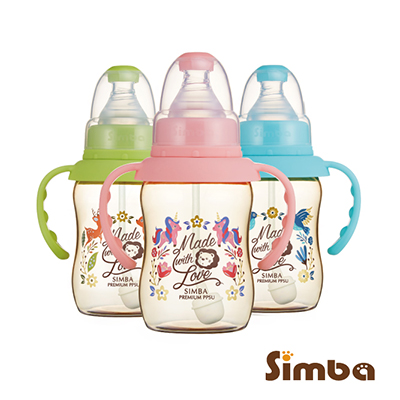 小獅王辛巴 桃樂絲PPSU自動把手標準葫蘆小奶瓶3支組(150ml)