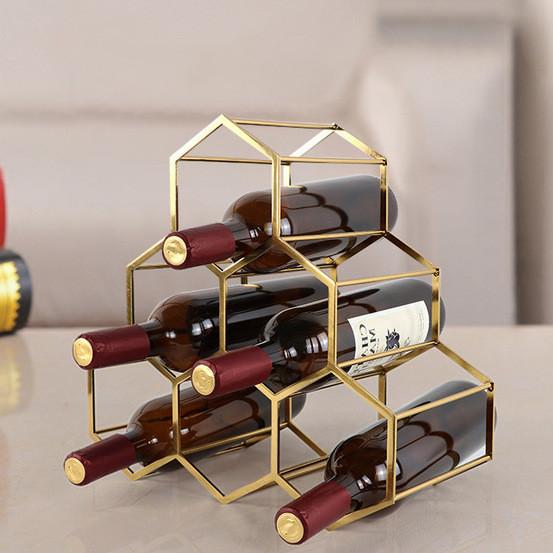 漾美六瓶蜂巢式酒架/酒瓶架/紅酒架