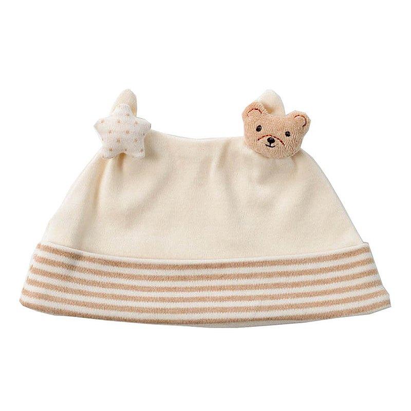 【Amorosa Mamma有機棉】小熊嬰兒帽