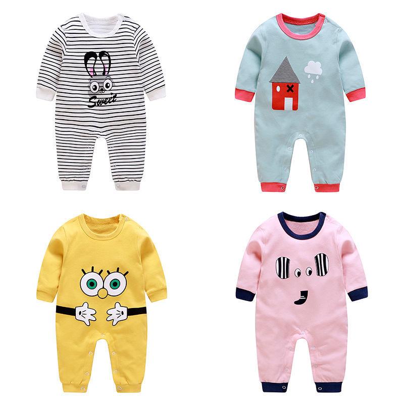 2020新款 秋季长袖 宝宝连体衣 纯棉爬服 婴儿外穿哈衣 新生儿
