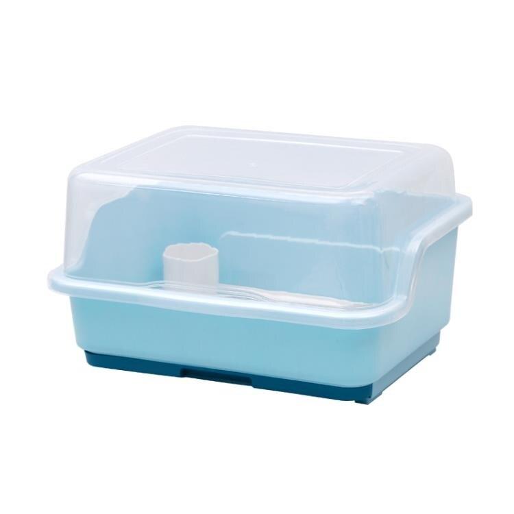 碗碟架 置物架裝碗筷收納盒放碗瀝水架廚房收納箱帶蓋家用置物架塑料碗柜