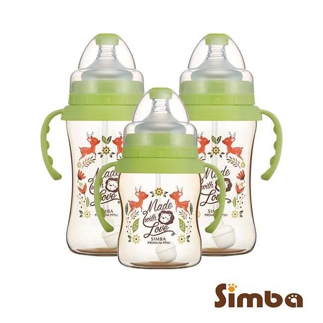 小獅王辛巴 桃樂絲PPSU自動把手寬口奶瓶經濟組(2中1小)