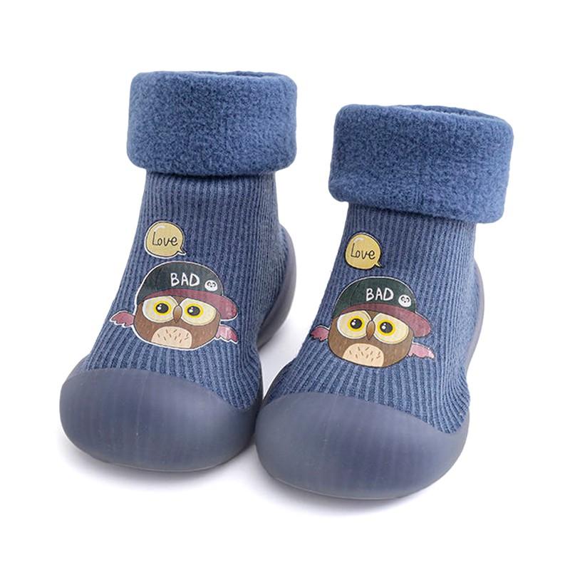 地板襪 兒童秋冬 室內防滑 加絨加厚 寶寶襪套 學步襪子鞋 嬰兒 地板鞋